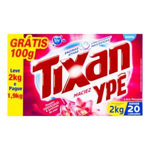Lava-Roupas em Pó Maciez Tixan Ypê Caixa Leve 2kg Pague 1,9kg | R$10