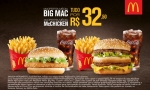 McDonald's: McOferta McChicken+McOferta Big Mac pague R$32,50 nos restaurantes participantes