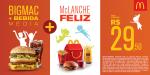 [Mc Donalds] Bic Mac + Bebida Média + Mc Lanche Feliz por R$ 30