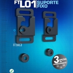 Cirilo Cabos - Suporte fixo de parede ultra fino para TV, FT-L01 - Fixatek - R$ 25,90