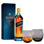 Whisky Importado Johnnie Walker Blue Label 750ml + 2 Copos   R$642,10