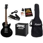 Kit de Guitarra Marshall Completo - Guitarra + Amp MG10CF + Acessórios - MGAP-B por R$1172