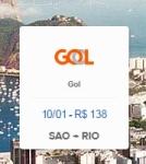 Vôo de São Paulo para Rio de Janeiro - GOL - R$118
