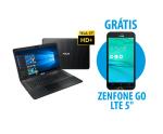 "Notebook X751LJ-TY386T + Zenfone Go LTE 5"" Preto - R$2.600"