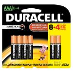 Pilha alcalina palito Duracell AAA leve 12 pague 8 + R$26,50 + Frete grátis
