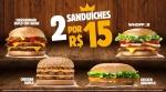 Compre 1 Leve 2 no Burger King - R$ 15,00