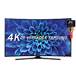 "Smart TV 55"" Ultra HD 4K UN55KU6000GXZD WiFi, 2 USB, 3 HDMI, Gamefly, 120Hz Motion Rate - Samsung por R$ 4559"