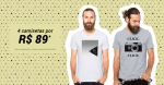 4 Camisetas por R$ 89