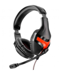 Headset Gamer Multilaser Warrior PH101 Preto/Vermelho
