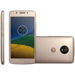 Smartphone Motorola Moto G5, 32GB, Dual, 13MP, 4G, Dourado - XT1672 por R$889