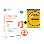 Office 365 Home Assinatura Anual 5 ativações  + Norton Security Plus 5 dispositivos