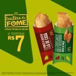 2 tortinhas por só R$7,00, de segunda a sexta, das 15h às 18h.