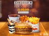 [Bob's] Cheddar M + Batata + Franlitos + Refri + Sundae por R$ 25,00