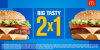 [Mc Donalds] Compre 1 Big Tasty e leve 2 - Pegue Cupom