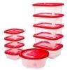 Conjunto de Potes 10 peças com Tampas por R$14