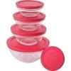 Conjunto de Potes de Vidro Euro Home 5 Peças - R$ 19