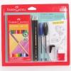 Kit Escolar Prático com 19 Peças 24 Cores Faber Castell - R$ 15